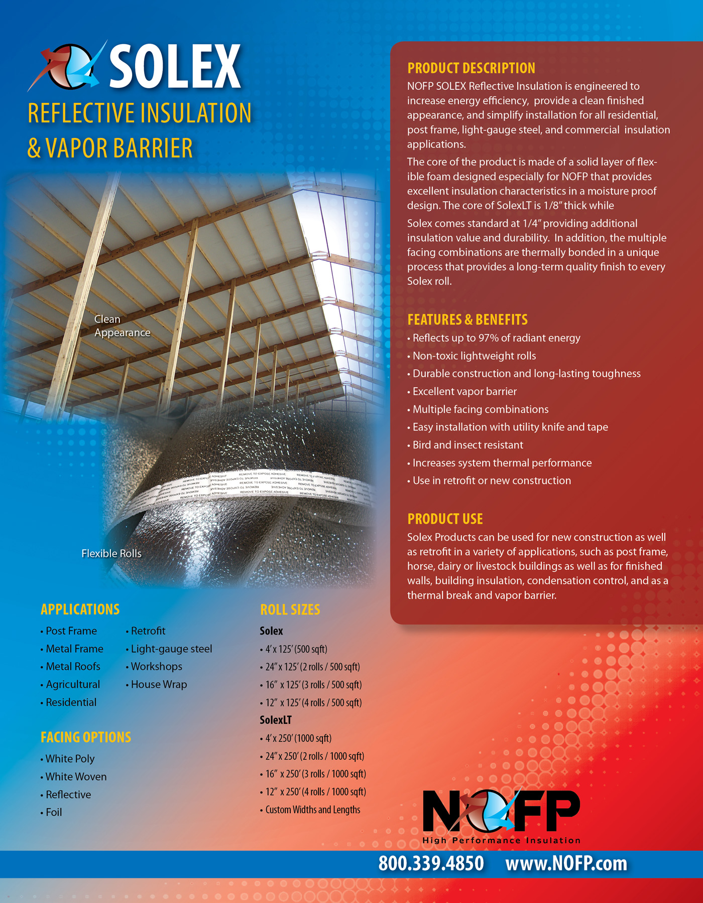 Solex Radiant Barrier Roof Systems