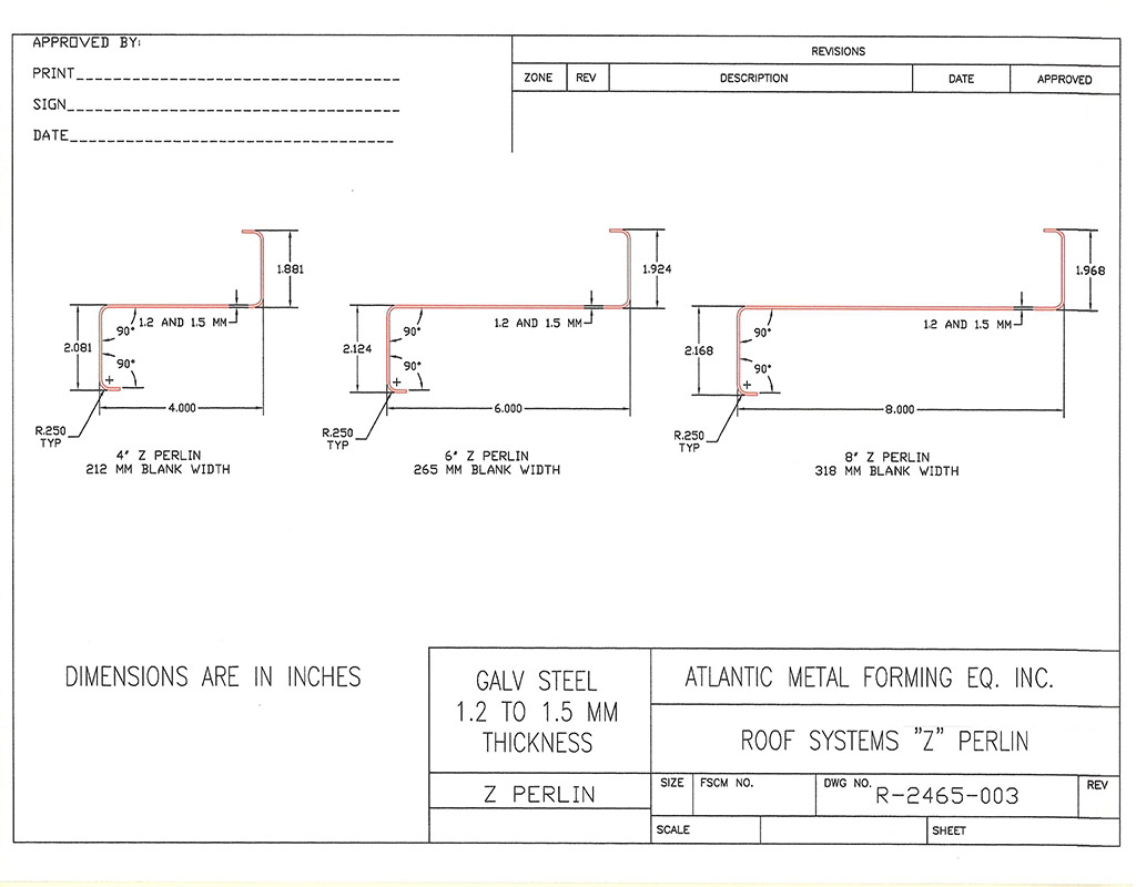 z purlin section properties pdf