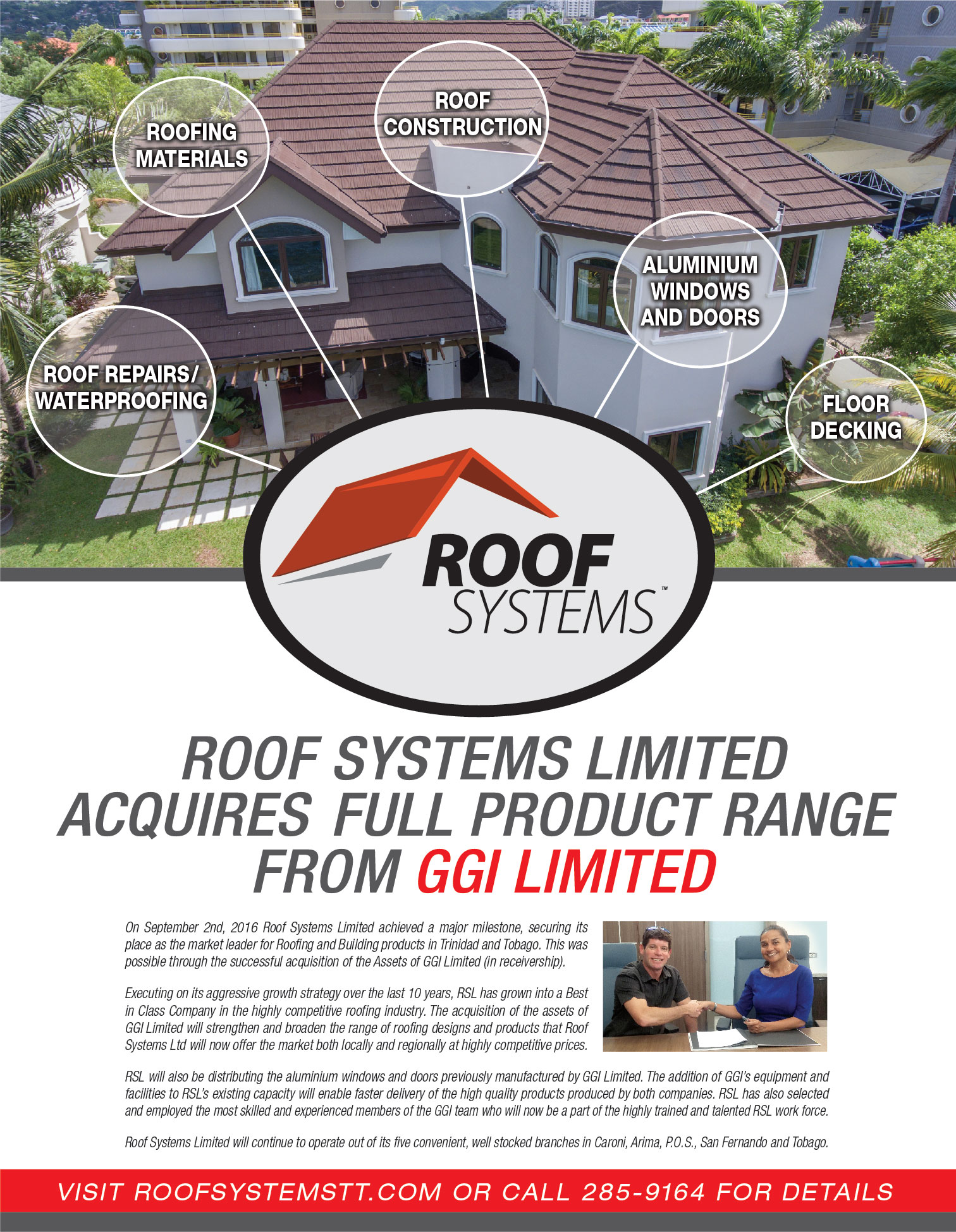 Roof Systems Acquires Full Ggi Product Range Roof Systems