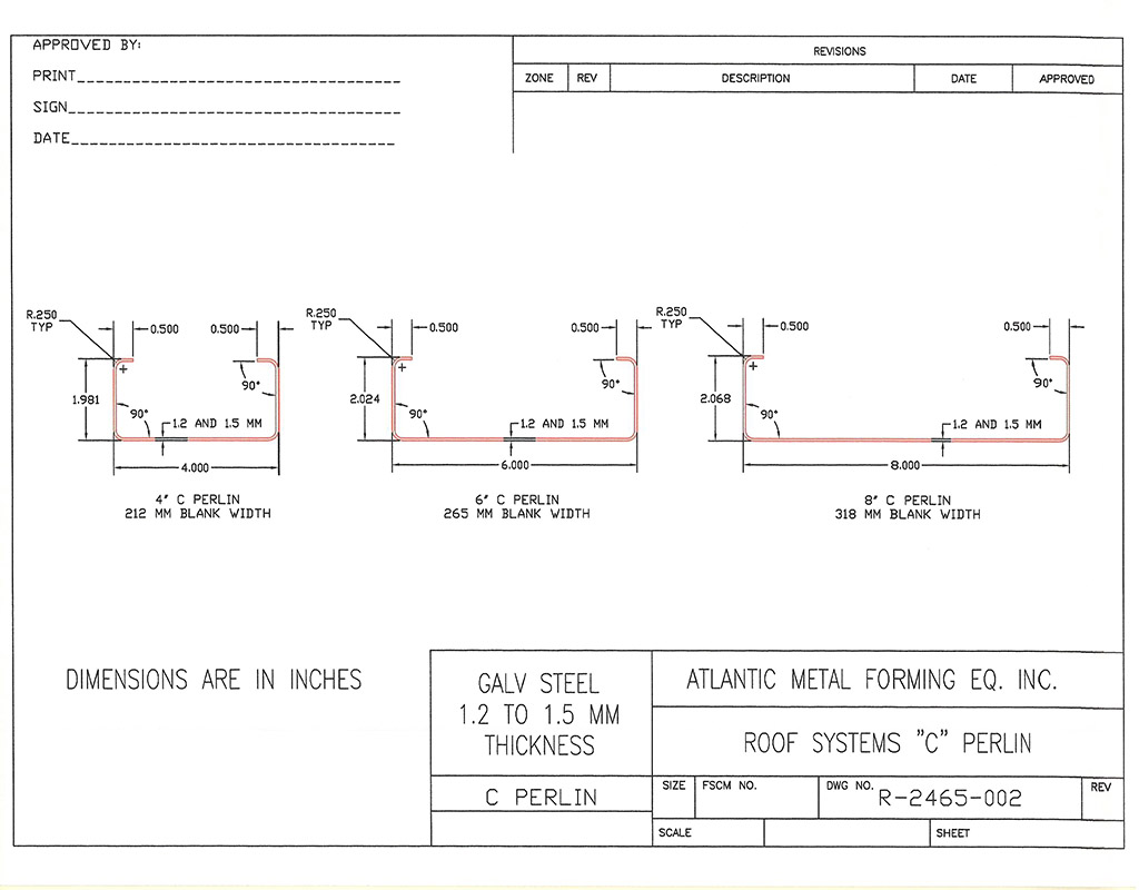 Z' and 'C' Purlins – Roof Systems